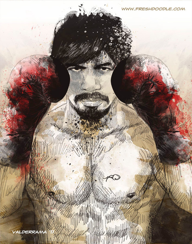 pacquiao by the freshdoodle por JP Valderrama