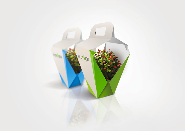 packaging flower garden por milena wlodarczyk